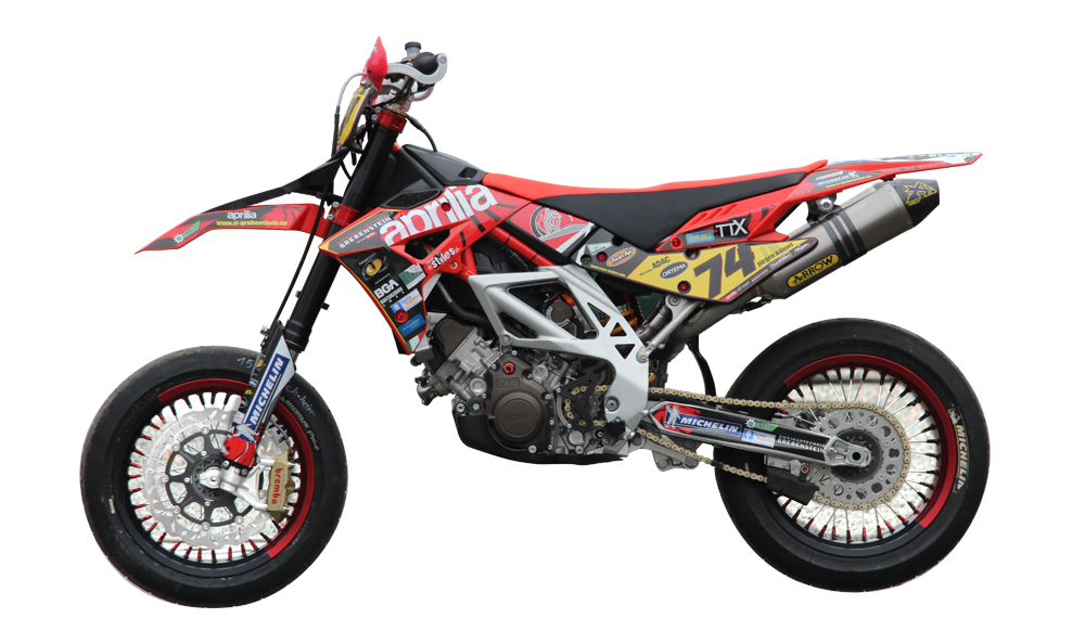 APRILIA SXV 550 - Decals + Parts