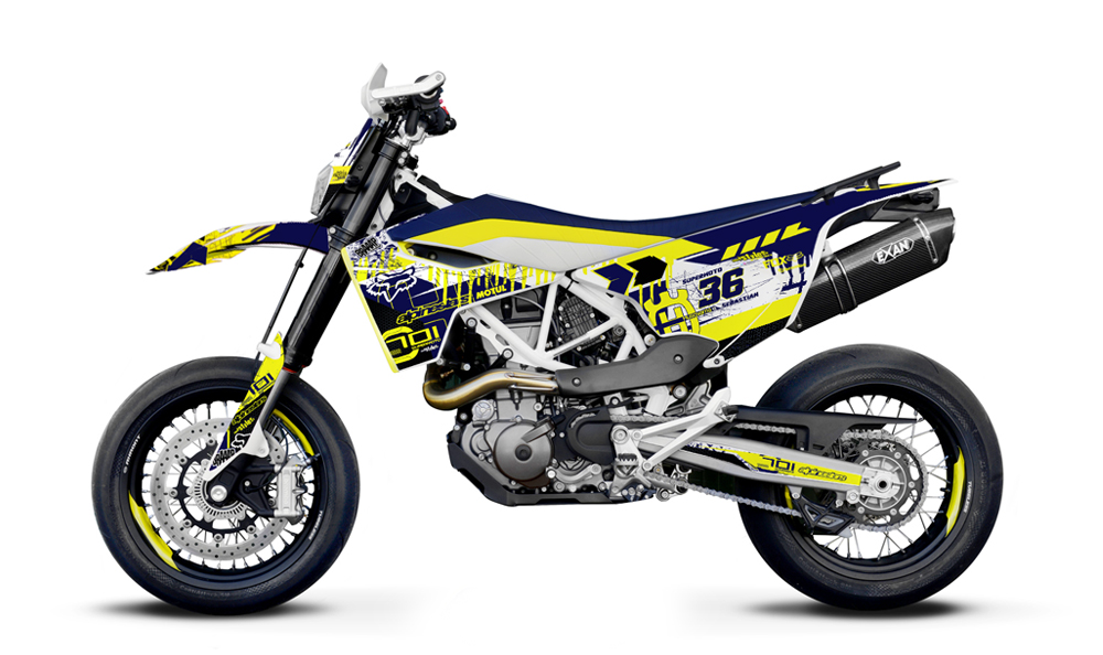 HUSQVARNA 701 SM - Decals + Parts