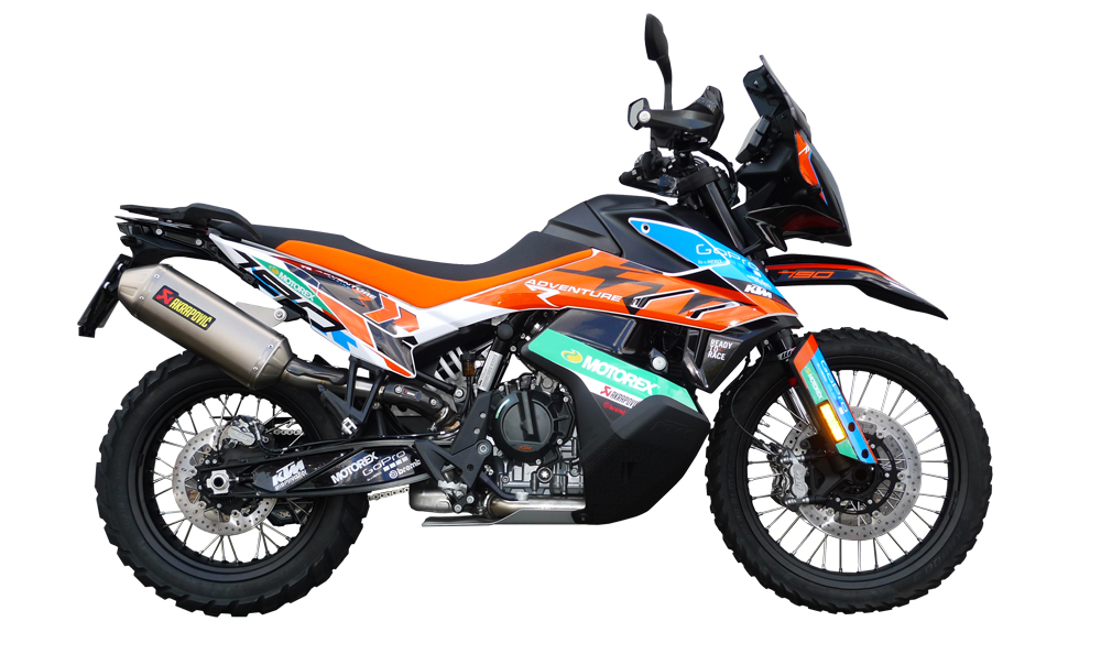 KTM 790 Adventure - Decals + Parts